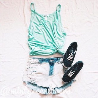 shoes tank top shorts