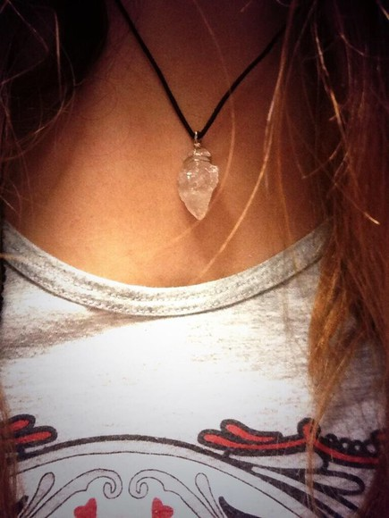 jewels quartz necklace rose quartz