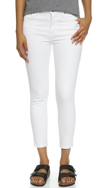 Citizens Of Humanity Crop Rocket High Rise Skinny Jeans - Optic White