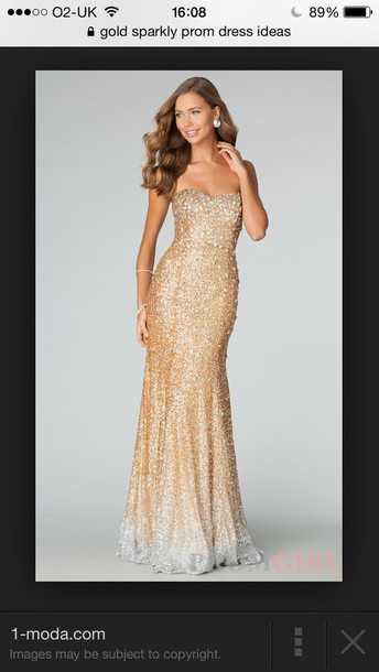gold sequins, gold, long prom dress, long prom dress, silver sequin ...