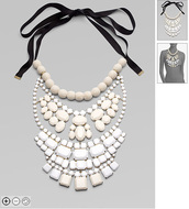 by malene birger,necklace,romantic,white jewels,jewels