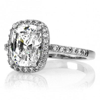 Liezel 1.8 ct cushion cut cz engagement ring