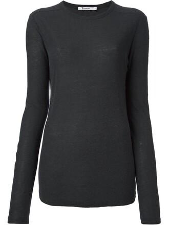 t-shirt shirt long grey top