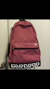 bag,pink by victorias secret,backpack,back to school