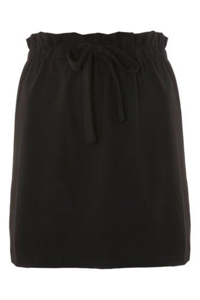 Topshop skirt mini skirt mini black