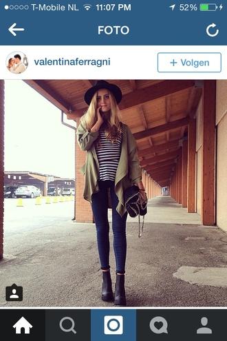 coat army jacket green trench coat fashion valentina ferragni blogger spring summer