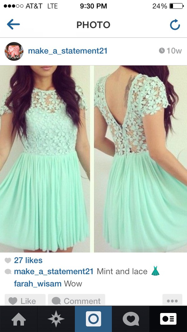 mint dress lace dress