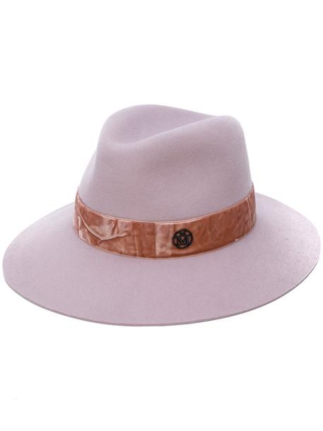 hat velvet purple pink