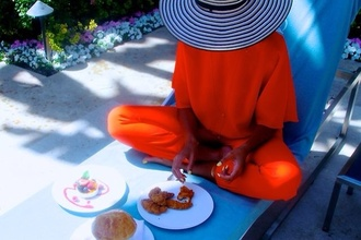 jumpsuit beyonce orange