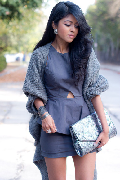 dress grey dress cardigan grey cardigan