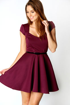 Lara Sweetheart Neck Skater Dress at boohoo.com ddf09f98f