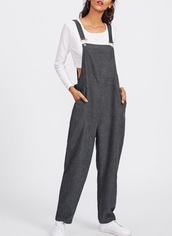 jumpsuit,girly,grey,overalls,dungarees,girl,girly wishlist,brown,one piece,cute,trendy,pinafore romper,pinafore,suspenders
