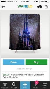 home accessory,shower curtain,disney,castle,home decor