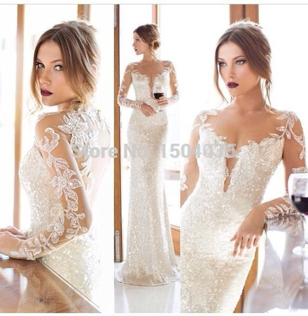 Buy zahy 2014 2015 sparkly wedding events for Sparkly wedding dresses with sleeves