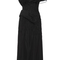 Black silk faille one-shoulder cocktail dress by marchesa - moda operandi