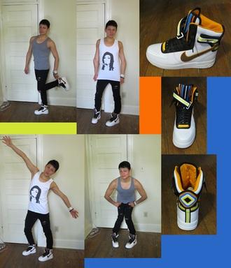 shoes nike riccardo tisci nike air force 1 sneakers high top sneakers white sneakers