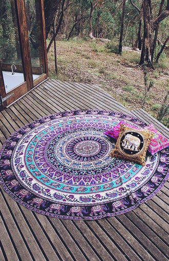 home accessory round beach towel tapestry