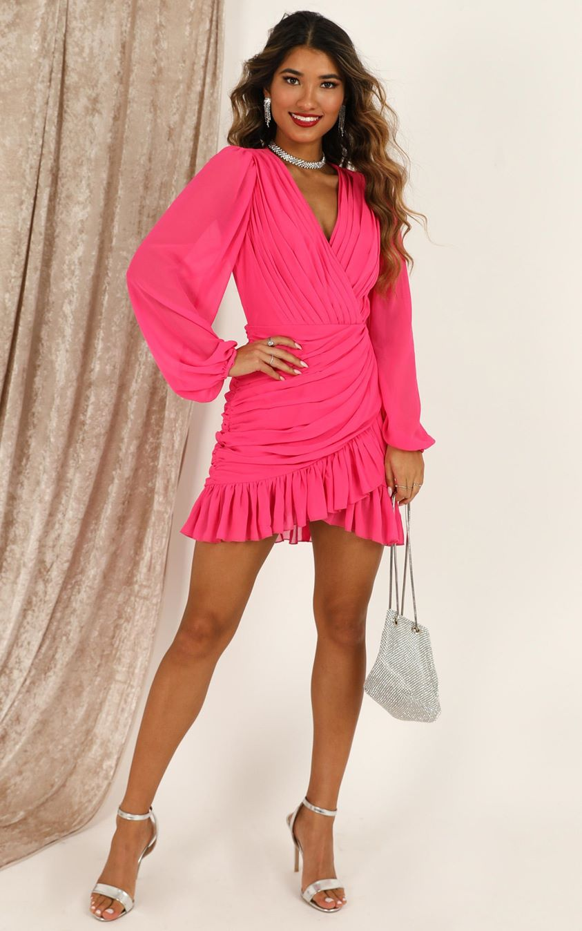 Showpo Can I Be Your Honey Dress in hot pink - 4 (XXS) Dresses
