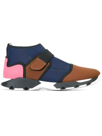 sneakers neoprene brown shoes