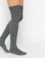 Asos over the knee mix knit socks at asos.com