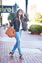 whatever is lovely – a houston life and style blog by lynne gabriel,blogger,jacket,t-shirt,jeans,shoes,bag,hat,sunglasses,jewels