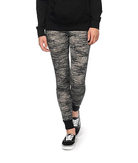 Almost famous black space dye jogger pants