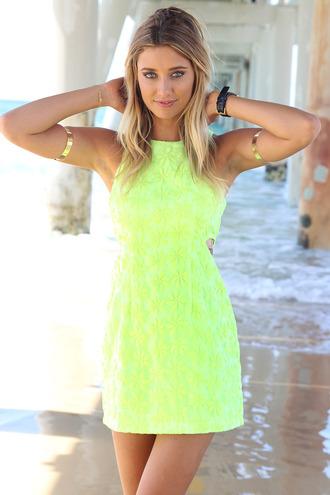 dress ustrendy dress ustrendy neon green neon summer dress summer outfits summer