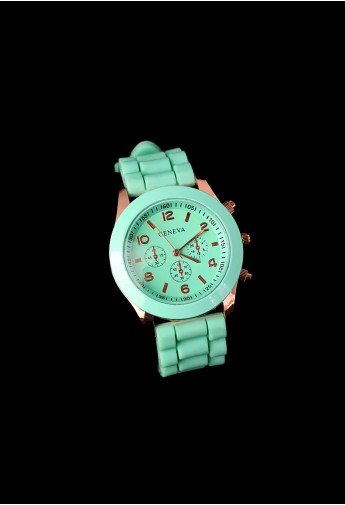 Mint Green Crystal Quartz Watch - Retro, Indie and Unique Fashion