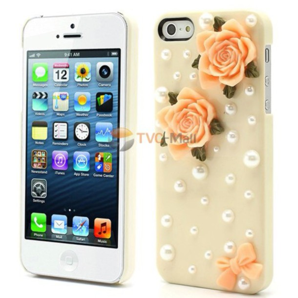 phone cover cream light orange