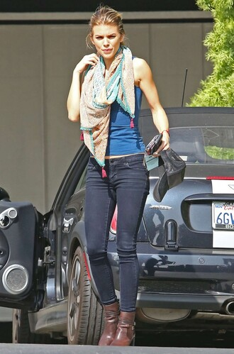scarf annalynne mccord jeans boots