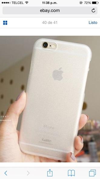 phone cover phonecase iphone iphone case iphone 6 case transparent transparent with glitter glitter dress sparkle