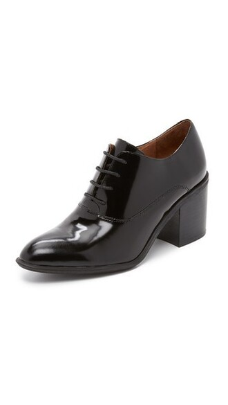 heel loafers black shoes