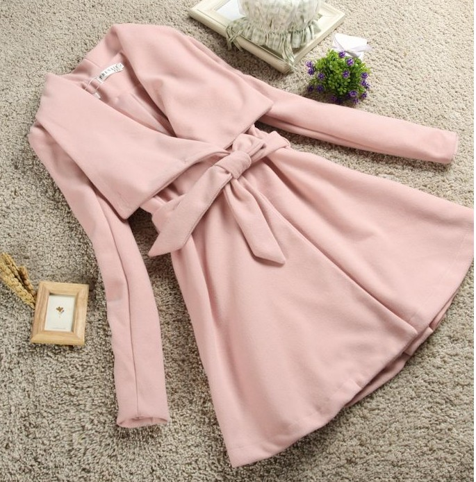Ladies wool coat pink – Modern fashion jacket photo blog