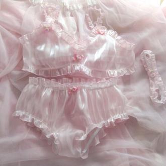 underwear pink lingerie flowers pink rose rose lingerie set pink lingerie
