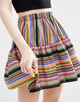 skirt mini skirt stripes