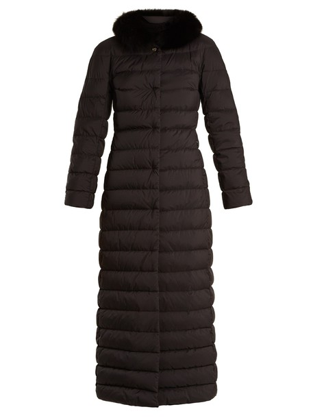 Herno coat fur quilted black