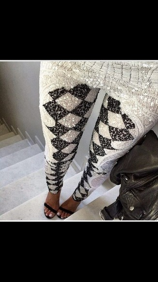 leggings pailettes pants