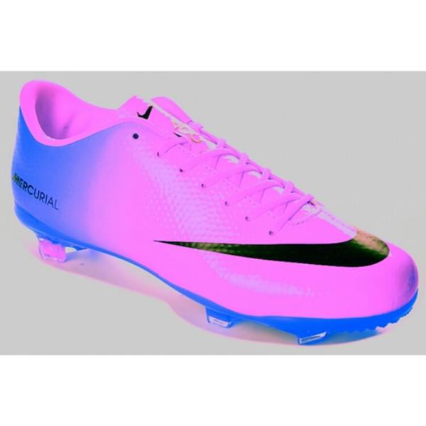 nike soccers shoes purple blue