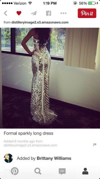 dress prom dress long dress long sparkly dress gold and white gown formal