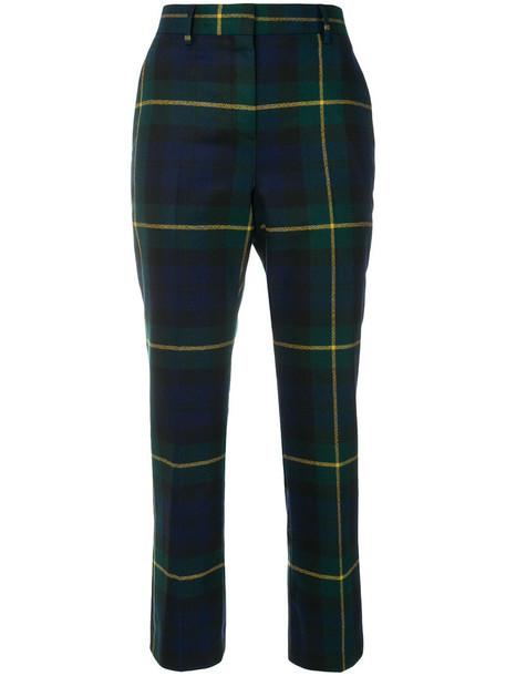 Paul Smith cropped women blue wool pants