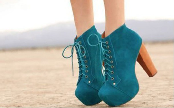 shoes suede ankle boots thick heel