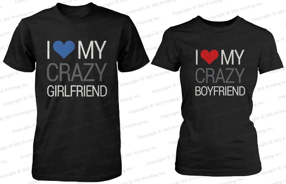 Cute Matching Crazy Couple T Shirt | eBay