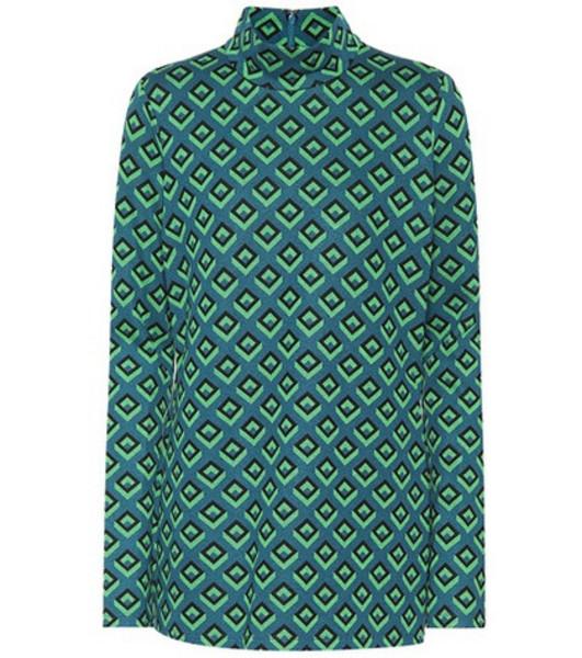 Diane von Furstenberg Jacquard knit top in green