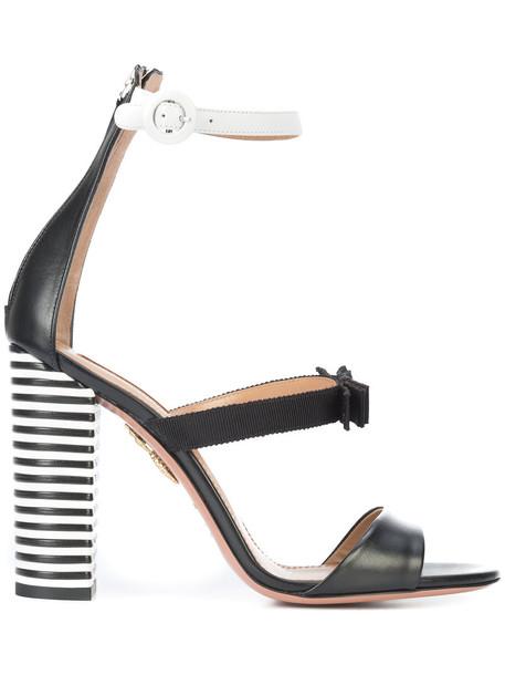 Aquazzura women sandals leather black shoes