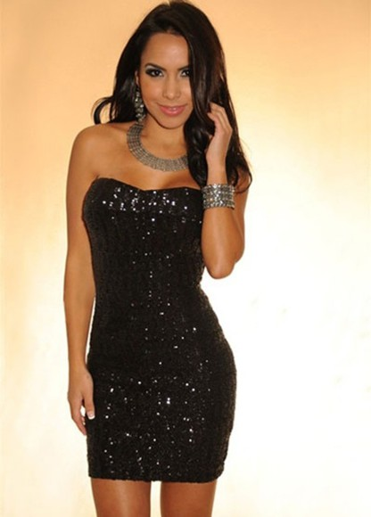 dress black little black dress sparkle dress