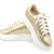 Gold Leather Sneakers
