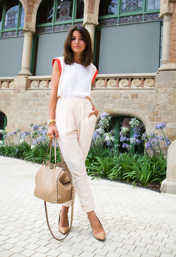 lovely pepa bag jewels blogger Valentino white top stilettos