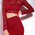 Elegant Long Sleeve Waist Cut Out Solid Color Sheath Lace Dress For Women