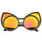 Aurora sun revo mirror cat eye sunglasses at flyjane