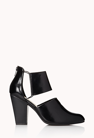 Sleek Cutout Booties | FOREVER21 - 2000052045